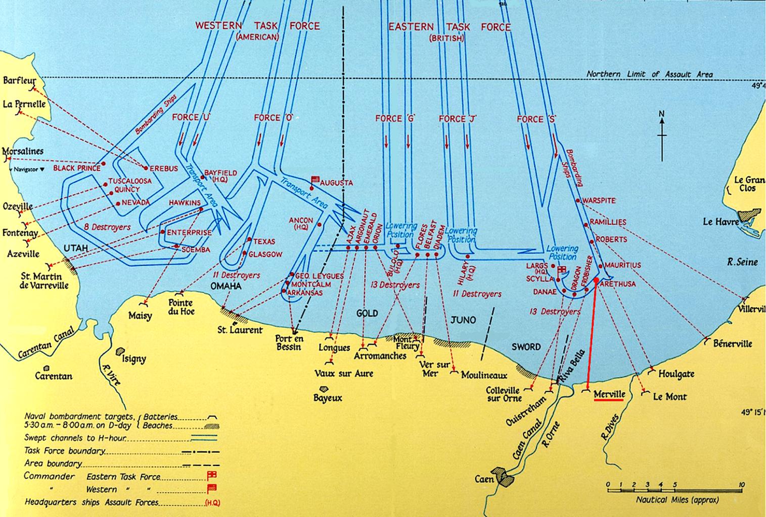 carte plages débarquement